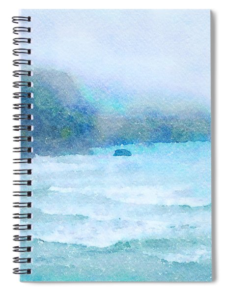 Foggy Surf Spiral Notebook