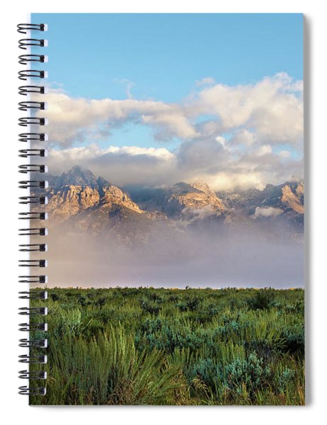 Foggy Teton Sunrise - Grand Tetons National Park Wyoming Spiral Notebook