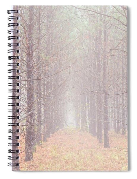 Foggy Walk  Spiral Notebook
