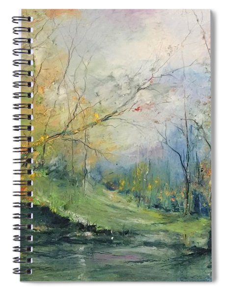 Foliage Flames On The River Spiral Notebook