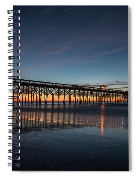 Folly Beach Pier Before Sunrise Spiral Notebook