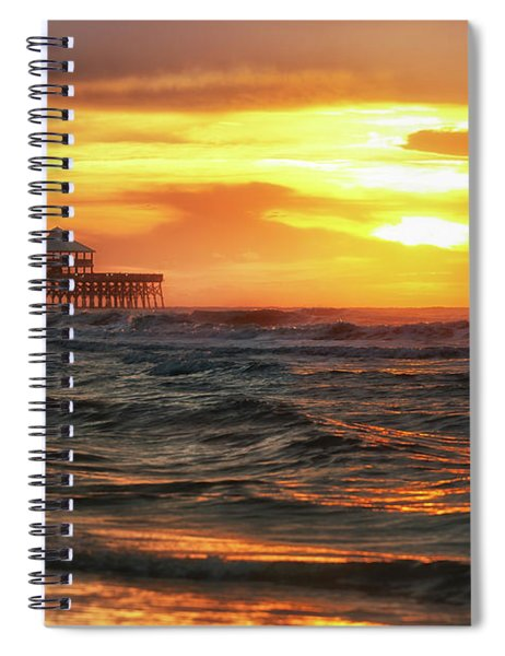Folly Beach Pier Sunrise Spiral Notebook