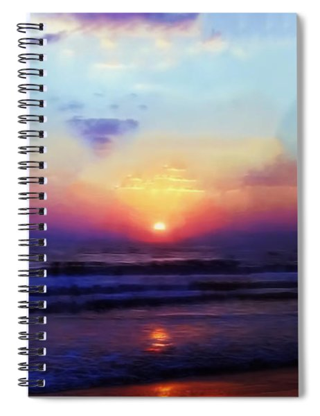 Folly Beach South Carolina Sunrise Spiral Notebook