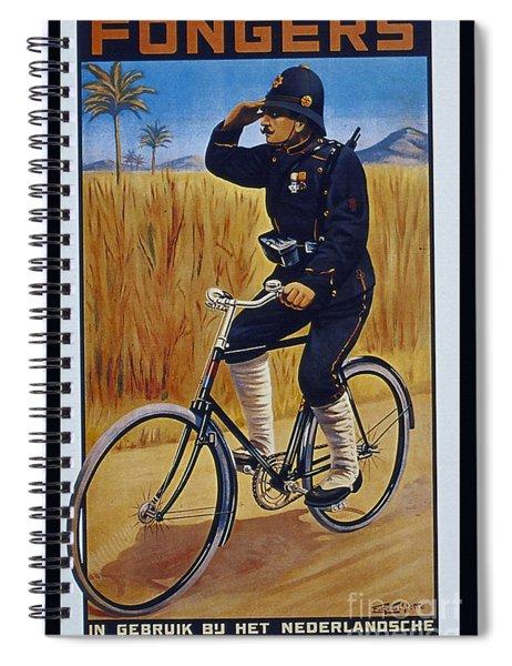 Fongers In Gebruik Bil Nederlandsche En Nederlndsch Indische Leger Vintage Cycle Poster Spiral Notebook