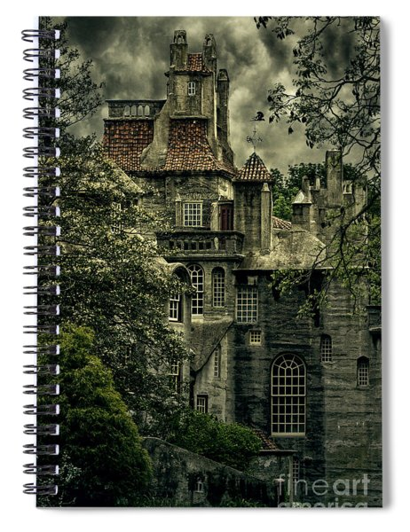 Fonthill With Storm Clouds Spiral Notebook
