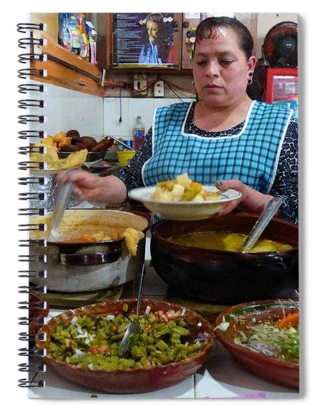 Food Court In Paracho Spiral Notebook