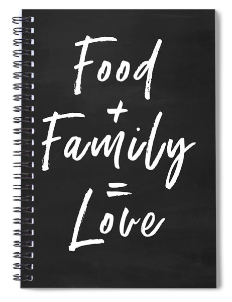 Food Family Love- Art By Linda Woods Spiral Notebook
