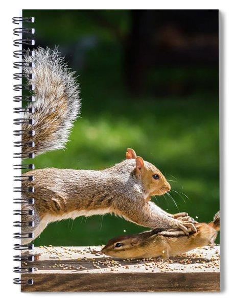 Food Fight Squirrel And Chipmunk Spiral Notebook