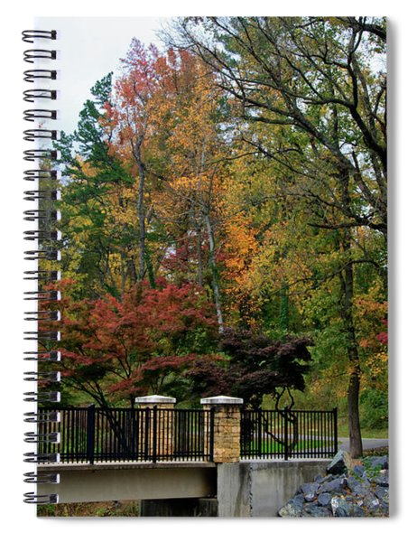 Foot Bridge In The Fall Spiral Notebook