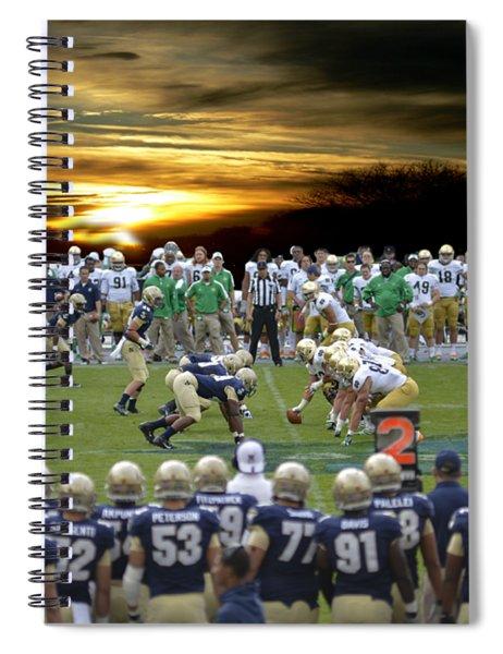 Football Field-notre Dame-navy Spiral Notebook