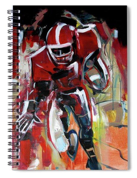 Football Run Spiral Notebook
