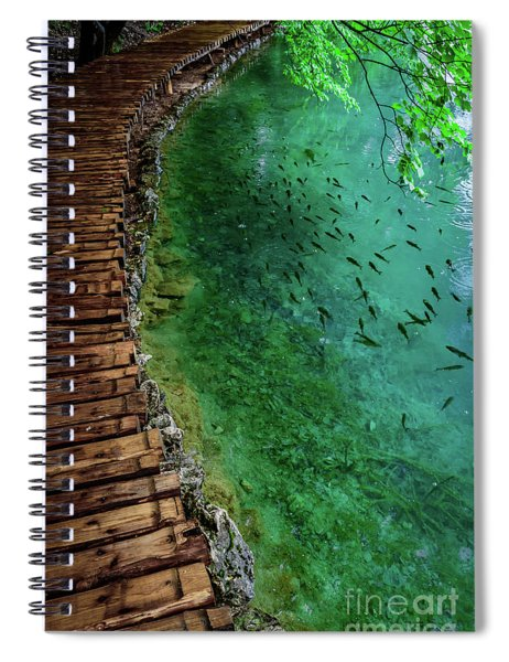 Footpaths And Fish - Plitvice Lakes National Park, Croatia Spiral Notebook