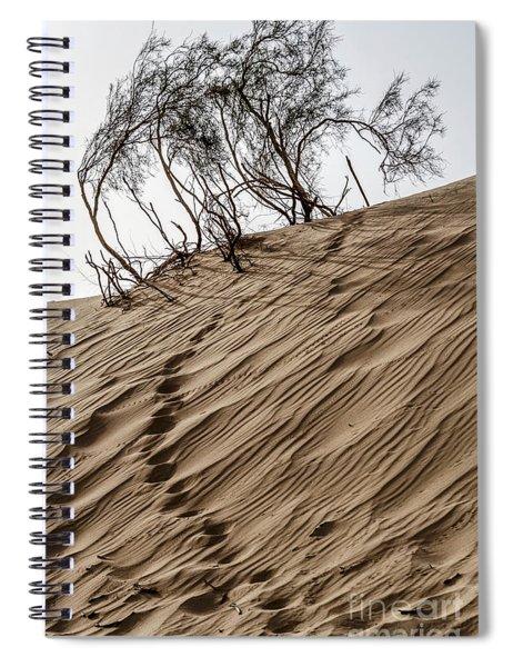 Spiral Notebook featuring the photograph Footprints  by Arik Baltinester