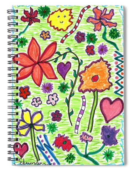 For The Love Of Flowers Spiral Notebook