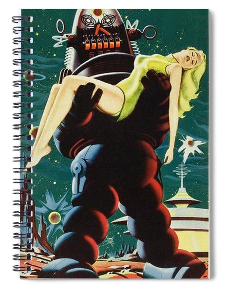 Forbidden Planet In Cinemascope Retro Classic Movie Poster Portraite Spiral Notebook