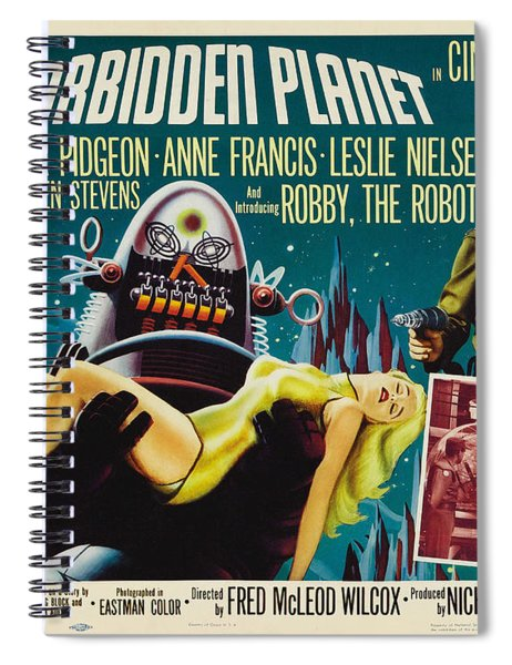 Forbidden Planet In Cinemascope Retro Classic Movie Poster Spiral Notebook