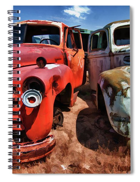 Ford And Chevy Standoff Spiral Notebook