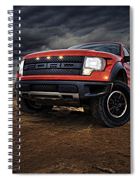 Spiral Notebook featuring the photograph Ford F 150 Raptor  by Movie Poster Prints
