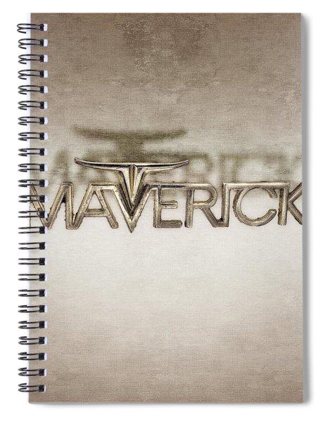 Ford Maverick Badge Spiral Notebook