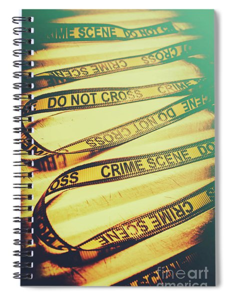 Forensic Csi Lab Details Spiral Notebook