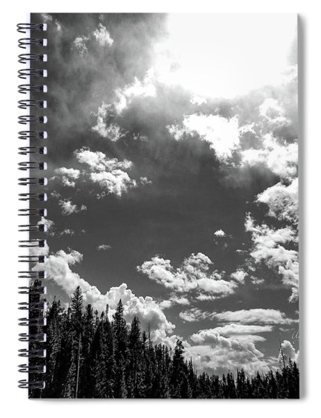 A New Day, Black And White Spiral Notebook