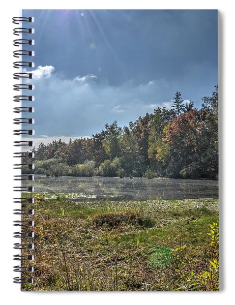 Forest Lake In Autumn Spiral Notebook