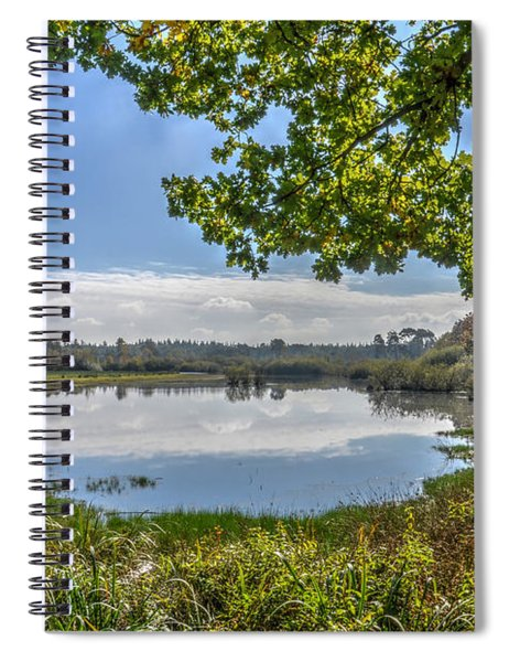 Forest Lake Through The Trees Spiral Notebook