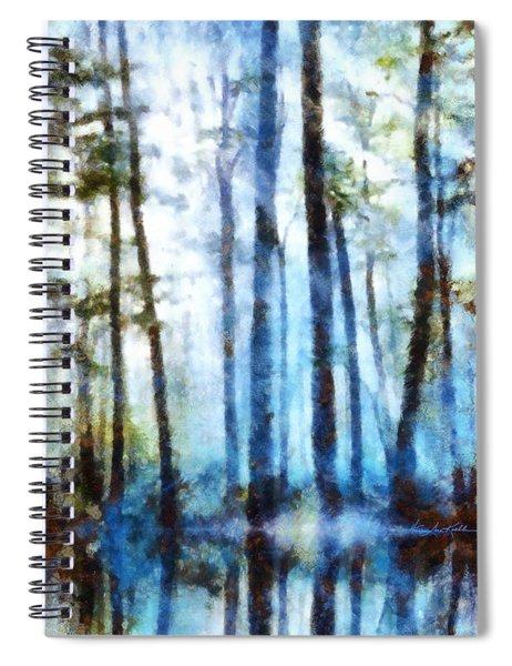 Forest Sentries In The Mist Spiral Notebook