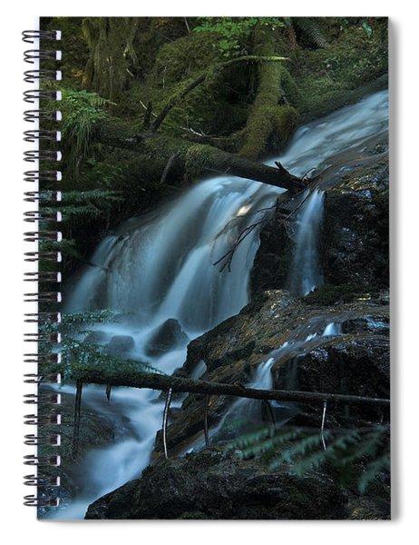 Forest Waterfall. Spiral Notebook