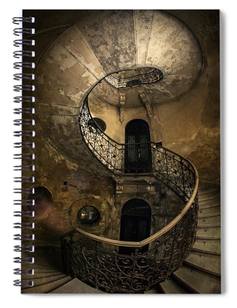 Forgotten Staircase Spiral Notebook
