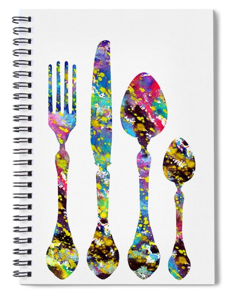 Fork Knife And Spoon-colorful Spiral Notebook