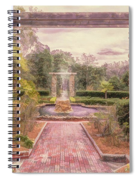 Formal Garden Area Of Ravine Gardens State Park Spiral Notebook