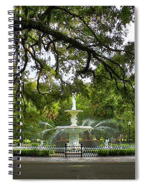 Forsyth Park Fountain Historic Savannah Georgia Spiral Notebook
