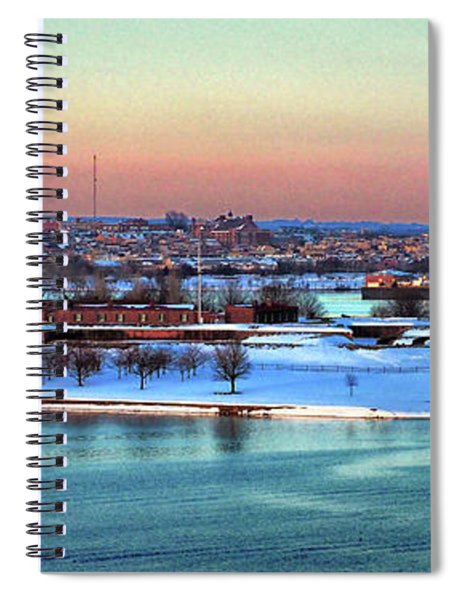 Fort Mchenry Shrouded In Snow Spiral Notebook