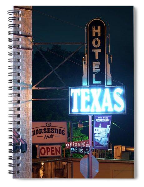 Fort Worth Hotel Texas 6616 Spiral Notebook