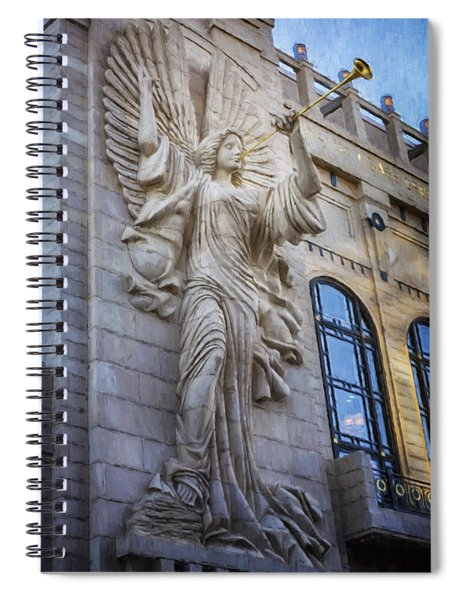 Fort Worth Impressions Bass Hall Angel Spiral Notebook