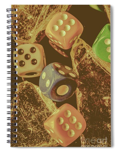 Fortune Faded Spiral Notebook