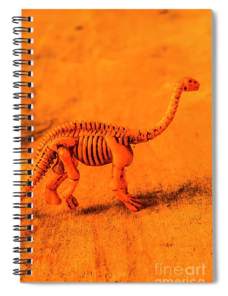 Fossilised Exhibit In Toy Dinosaurs Spiral Notebook