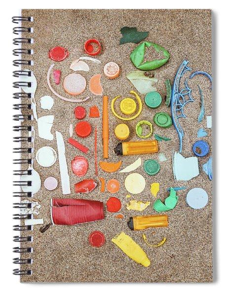 Found Items Rainbow Spiral Notebook