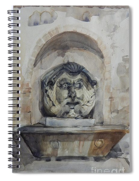 Fountain In Rome Spiral Notebook