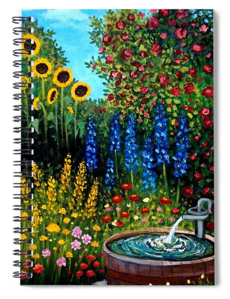 Fountain Of Flowers Spiral Notebook