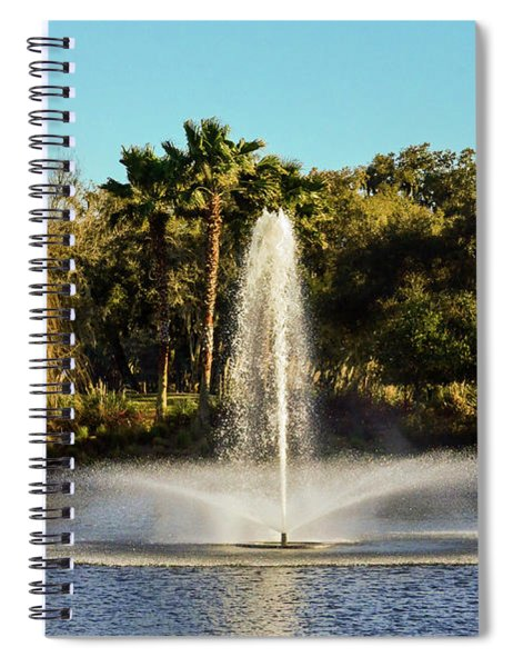 Fountain Spray At Tpc Sawgrass Spiral Notebook