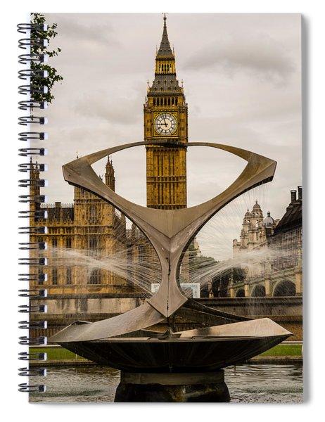 Fountain With Big Ben Spiral Notebook