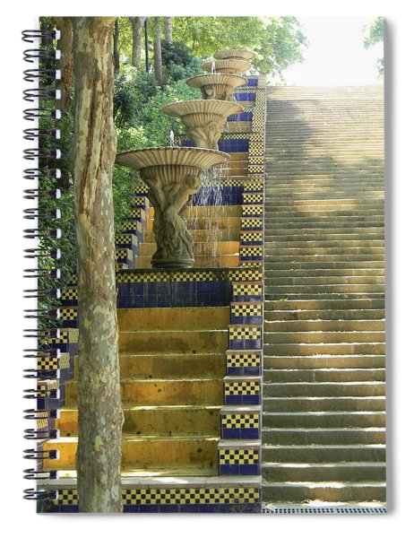 Fountains At Montjuic Spiral Notebook