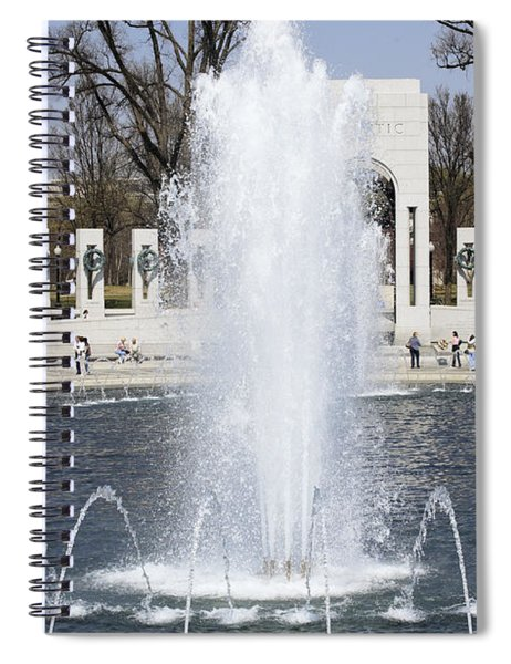 Fountains At The World War II Memorial In Washington Dc Spiral Notebook