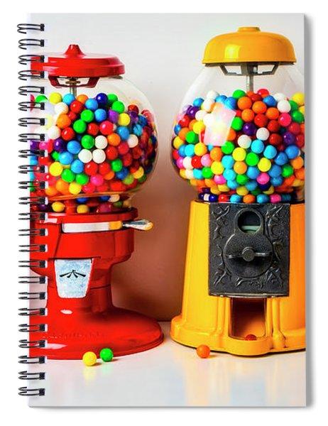 Four Bubblegum Machines Spiral Notebook