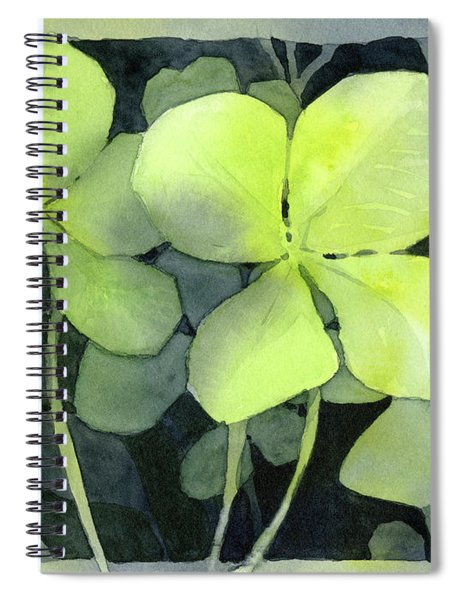 Four Leaf Clover Watercolor Spiral Notebook