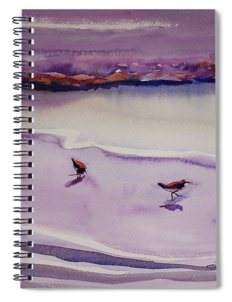 Four Sandpipers Spiral Notebook