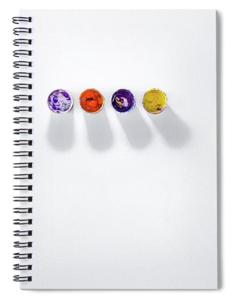 Four Small Containers Of Paint Spiral Notebook
