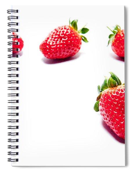 Four Strawberries Spiral Notebook